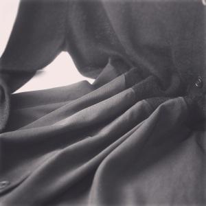 Winter black dress