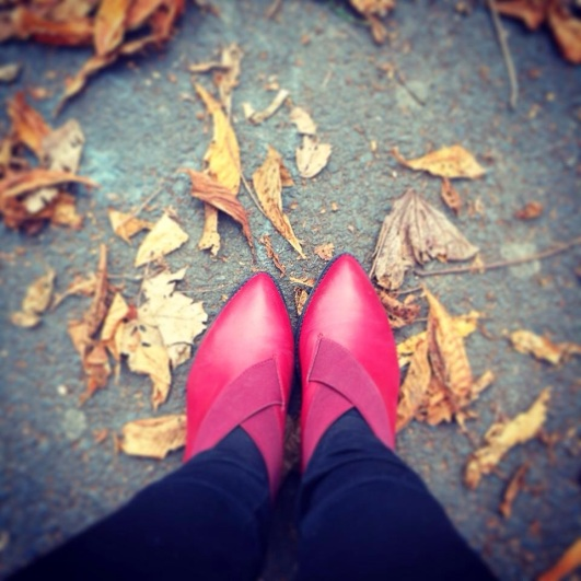 Red shoes go with everything!