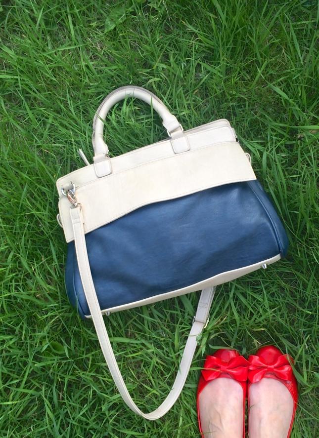 Blue & Cream bag