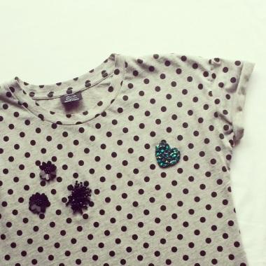Zara polka dot tshirt